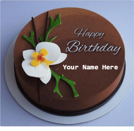 Chocolate Birthday Cake With Name