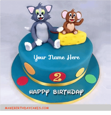 Cute Tom and Jerry Kids Birthday Cake