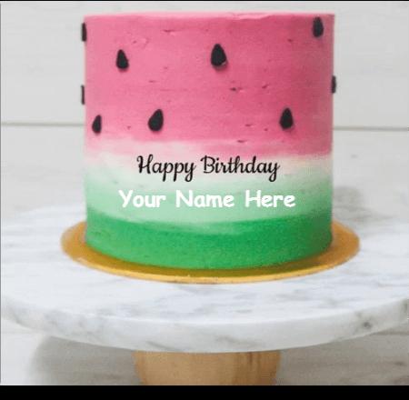 WATERMELON PINK VELVET CAKE