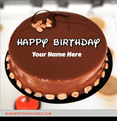 Hot Chocolate Mirror Birthday Cake
