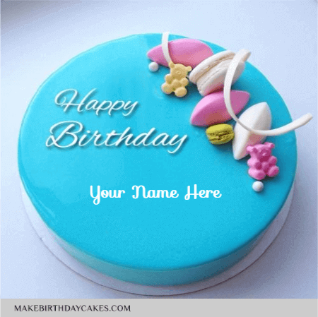 Happy Birthday Cake in Blue
