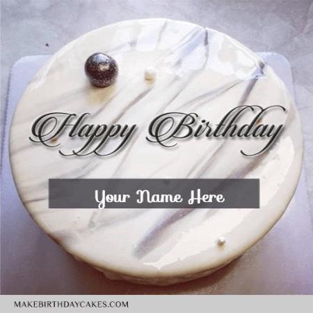 White Chocolate Shining Birthday Cake