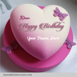 Beautiful Heart Shape Birthday Cake