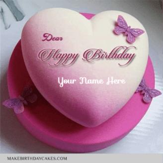 Beautiful Heart Shape Birthday Cake