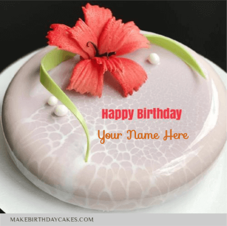 Mirror Glaze Marble Decorated Floral Cake