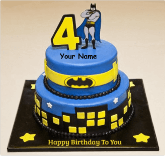 Marvelous Batman Birthday Cake Unique Beautiful Cake With Name Personalised Birthday Cards Veneteletsinfo