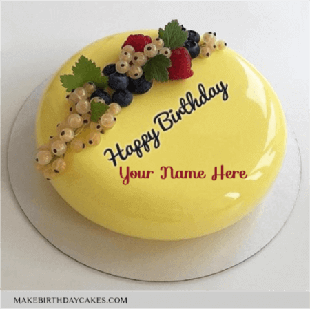 Beautiful Yellow Fruit Birthday