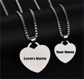Couple Heart Pendant Necklace