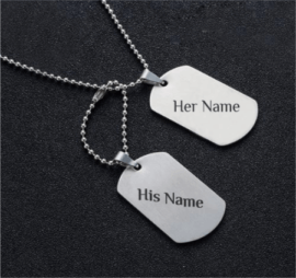 Engraved Couple Pendant