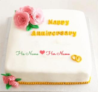 Happy Engagement Anniversary Cake