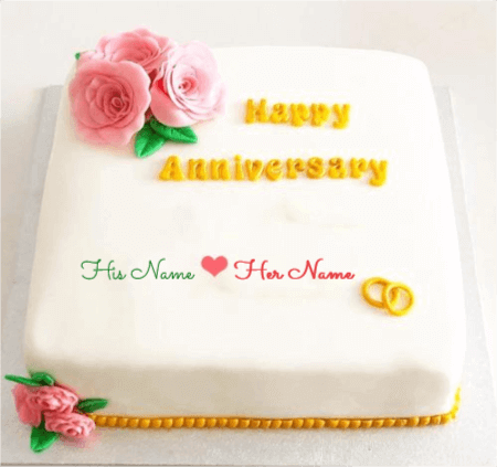 Happy Engagement Anniversary Cake