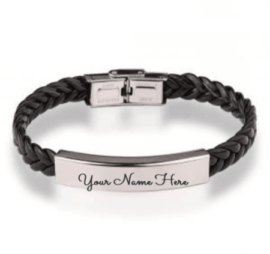 Leather Engraved Bracelet