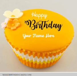 Beautiful Cupcake With Flower Decoration