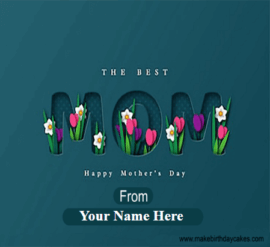 Dark Blue Mother Day facebook cover