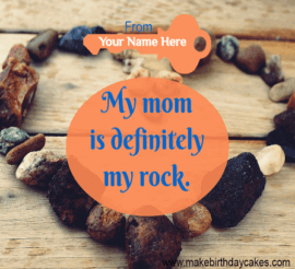 Red Stone wall Cover image for Mother Day