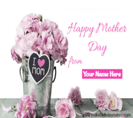 Pink Red Roses Mother Day Cover