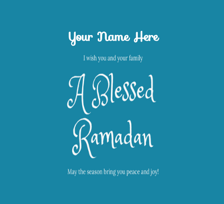 Greeting For Ramadan Kareem