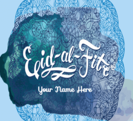 Eid Al Fitr Greeting Card For Friends