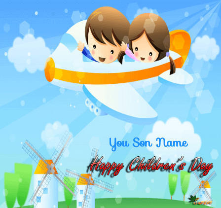 Children Day Greeting Card For Sons