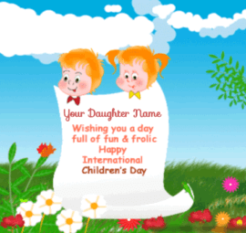 Children Day Greeting Card For Daughter
