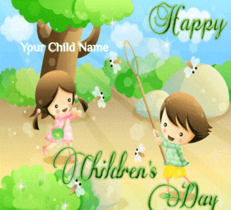 Children Day Greeting Card For Son And Daughter