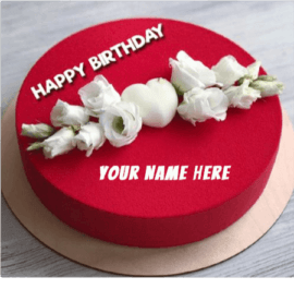 Romantic Red Birthday Cake
