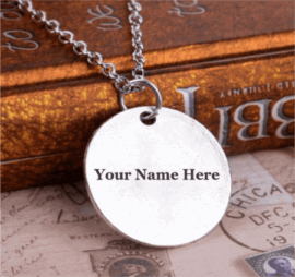 Silver Plated Mens Pendant Necklace
