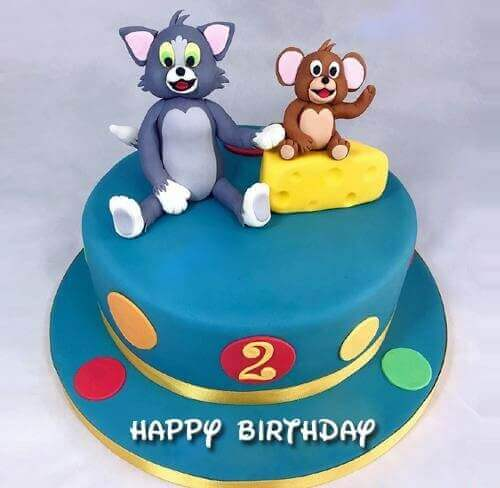 Cute Tom And Jerry Kids Birthday Cake Make Birthday Cakes