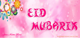 Beautiful Eid Mubarak Cover for Girls