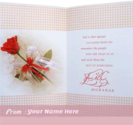 Happy Eid Mubarak Greetings Card