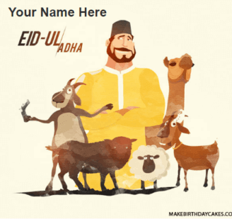 Advance Eid Mubarak Man with Animal