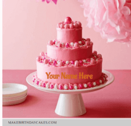 Amazing Pink Valvet Cake for Birthday
