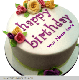 Beautiful Pink Creamy Cake Wishes With Name