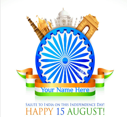 Salute To Happy Independence Day To India