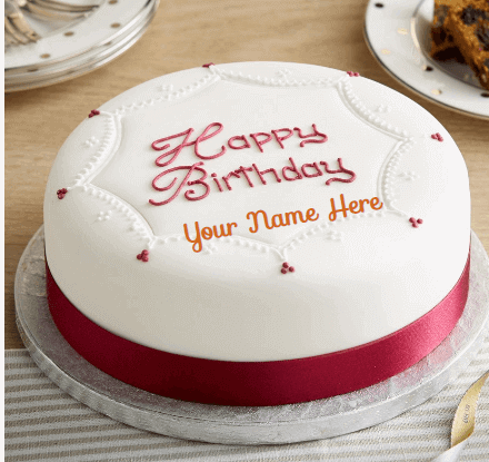 Beautiful Birthday Cakes With Pink Ribbon