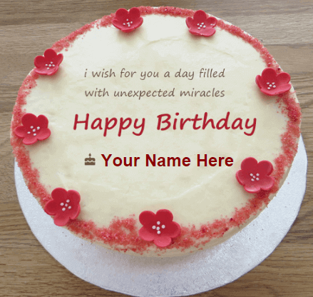 Birthday Cakes Wishes With Name On Strawberry Cake Make Birthday Cakes