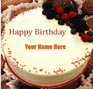 Chocolate Vane-la Birthday Wish Cake