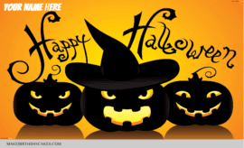 Happy Halloween Greetings With Name