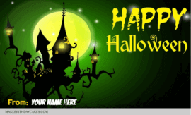 Happy Halloween Wishes Photo With Name