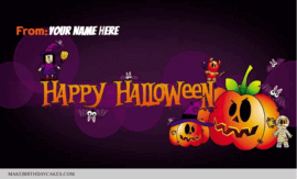 Happy Halloween Fun Greeting With Name