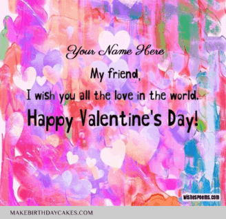 Valentines Day Wish for friends