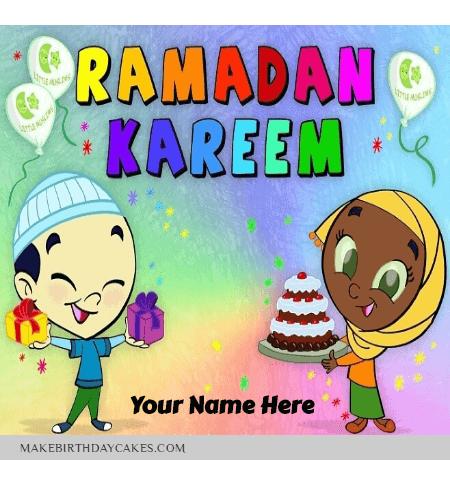 Happy Ramadan Mubarak Greetings for kids
