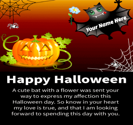 Cute Halloween Greetings for Girlfriend