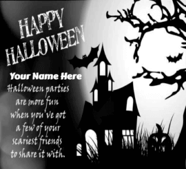 Halloween Greeting Card Message