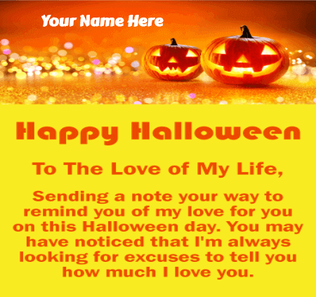 Halloween Greetings for Couples
