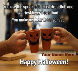 Halloween Love Greetings With Name