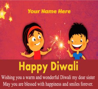 Happy Diwali for Sister