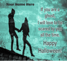 Romantic Halloween Greeting for Lover