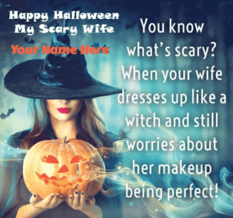 Scary Halloween Wishes for Wife