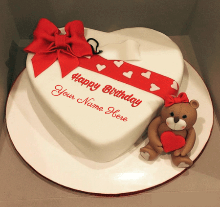 Birthday Cake For Girlfriend With Teddy